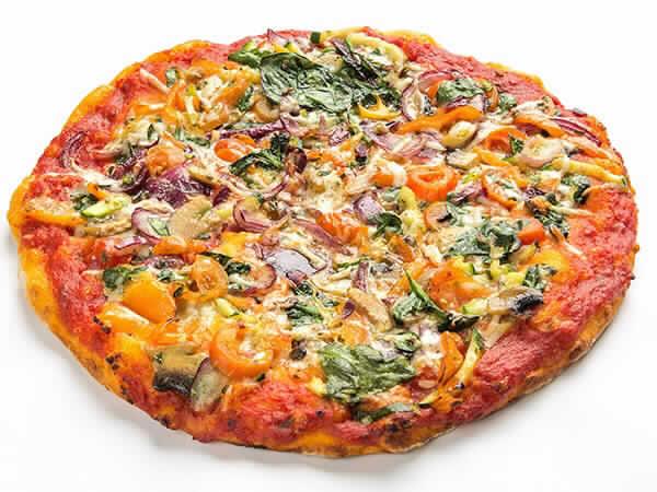 Pizza Vegetales con Queso Curado